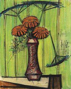 Bouquet of Flowers, Bernard Buffet. French (1928 - 1999)