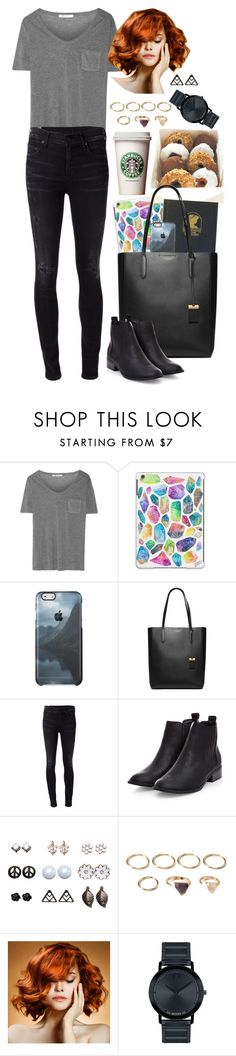 """Instant Human"" by anna-fozo ❤ liked on Polyvore featuring T By Alexander Wang, Michael Kors, Citizens of Humanity, Wet Seal, Forever 21, WigYouUp and Movado"
