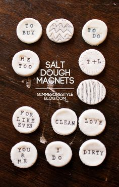 Make your own cute magnets! Salt dough is one of the most fun projects, in my opinion. The possibilities are endless!