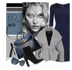 """""""style"""" by sandevapetq ❤ liked on Polyvore featuring Roland Mouret, Balmain, Hermès, Gianvito Rossi, Bobbi Brown Cosmetics, Tiffany & Co., jobinterview and 60secondstyle"""