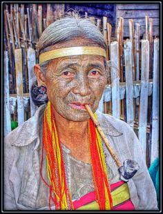 Chin Hill Tribe woman . Myanmar