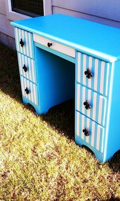 refinished desk/vanity...but In a different color