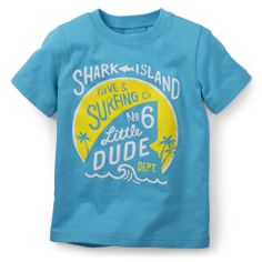Shark Island Print Tee | Carter's baby
