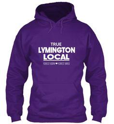 True Lymington Local. Forest Born Purple Sweatshirt Front