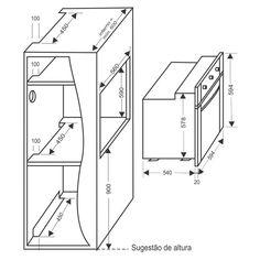 Forno Elétrico de Embutir Casavitra, 58 Litros, Grill, Preto - E20F10