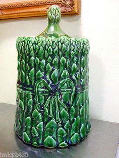 Green Asparagus Cookie Jar by McCoy