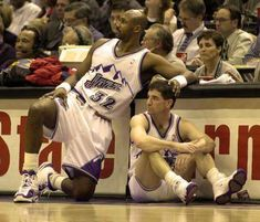 Karl Malone and John Stockton - Utah Jazz New York Basketball, Jazz Basketball, Love And Basketball, College Basketball, Basketball Players, Basketball Shooting Drills, College Wrestling, John Stockton, Karl Malone