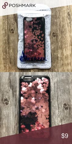 iPhone 6 6s Rose Gold Hearts Liquid Glitter Case ▪️BRAND NEW Sealed iPhone 6 6s (regular size) Case ▪️Hard PC Front & Thick Shock-Resistant Rubber Sides ▪️Brand New 9H Tempered Glass Screen Protector Included ! ▪️Same or Next Business Day Shipping ! Kerzzil Accessories Phone Cases
