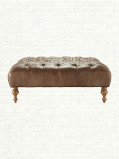 Club Leather Square Ottoman. Arhaus. This one is even better.