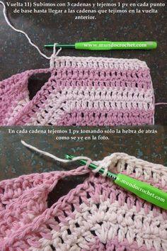 Como tejer un saco, campera, cardigan o chambrita a crochet o ganchillo desde el canesu17