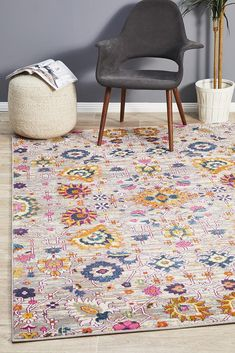 Eclectic is the perfect collection for Summer, bursting with colour, life and character. The use of ornate geometric and floral motifs make these statement rugs a visual delight that will work beautifully in Bohemian and eclectic settings. Floor Rugs, Machine Made Rugs, Eclectic Rugs, Transitional Rugs, Rugs, Modern Rectangle, Area Carpet, Statement Rug, Rugs Online