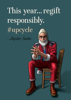 This year regift responsibly Hipster Santa by CandidCaleb on Etsy
