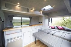 Looking for a camper conversion, but want the glamping experience? Take a look at our Glamping Campervan Conversions and see if it's for you. - Home Decoration Campervan Interior Volkswagen, Vw Transporter Campervan, Vw T5 Interior, Vw T3 Camper, T3 Vw, Volkswagen Bus, Campervan Bed, Volkswagen Beetles, Rv Campers