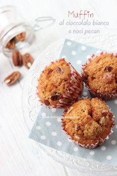 Dolce Salsarosa: Muffin al cioccolato bianco e noci pecan