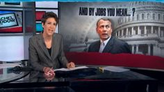 Maddow blasts Republicans on jobs - great resource for potential blog topic