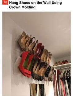 Crown molding shoe racks