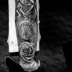 Piece done by Lil B Tattoo