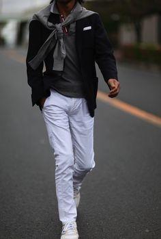The Dapper Gentleman Gentleman Mode, Gentleman Style, Sharp Dressed Man, Well Dressed, Winter Typ, Look Man, Mens Fashion Blog, Fall Fashion, White Pants