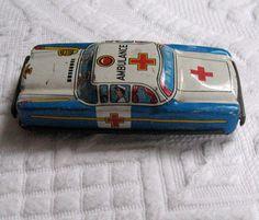 Tin Toy Ambulance Car by vintagous on Etsy