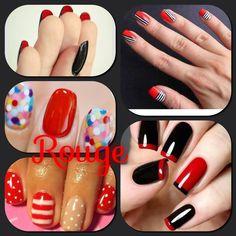 #Romántico #Rouge Diseños #Lucir #manos #Bellas #beauty #Couture #Nails #Rojos #Candy #Black & #Red #must en #Uñas Naturales y de aplicación.