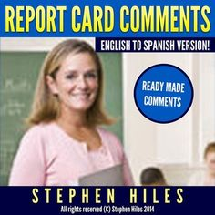 A convenient, easy to use, and a great time saver for teachers! Grades: Ready-Made Comments that teachers can use right away! This resource consists of 20 report card comments per each of the eight categories written in both English and Spanish w Travel Nursing Agencies, Report Card Comments, 5th Grade Ela, Leader In Me, First Grade Reading, Teacher Tools, Travel Planner, Reading Activities, Class Management