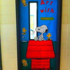 Cute Snoopy classroom Door!