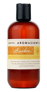 Arbonne Aromassentials Awaken Bath and Shower Gel    A luxurious, botanically-based bath and shower gel formulation that cleanses without drying, leaving skin smooth, softened and conditioned with the Awaken Essential Oil Blend. Awaken Essential Oil Blend Key Ingredients: Orchid extracts, kukui and green tea oils.