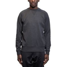 Logo sweat top from the F/W2016-17 Y-3 by Yohji Yamamoto collection in charcoal melange