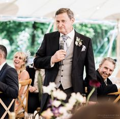 Father of the Bride giving his speech at Sarah's wedding!  📸: Stu Ganderton Wedding Photography