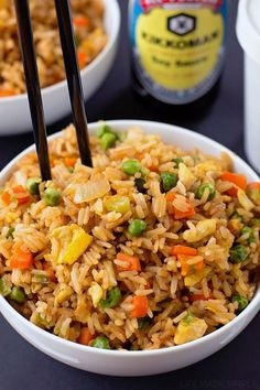 Than Takeout Fried Rice There's no need to order out! This better than takeout fried rice is ready to go in just 20 minutes!There's no need to order out! This better than takeout fried rice is ready to go in just 20 minutes! Vegetarian Recipes, Cooking Recipes, Healthy Recipes, Recipes For Rice, Leftover Rice Recipes, Healthy Food, Fried Vegetables, Veggies, Healthy Foods