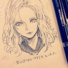 休憩〜落書き〜 #illustration #drawing #doodle #otaku #manga #イラスト #絵 #落書き #アナログ