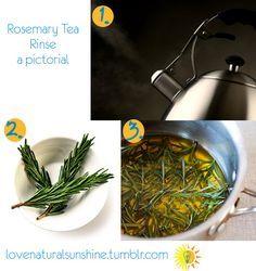 Rosemary tea rinse for hair