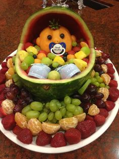 Baby Shower Fruit Tray, Fruit Salad, Acai Bowl, Projects To Try, Breakfast, Ideas, Recipes, Food, Acai Berry Bowl