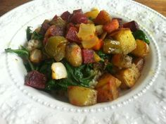 Moroccan Vegetables w/ Couscous @cbaccus #SundaySupper