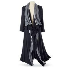 Black and Gray Cascading Coat - Women's Clothing & Symbolic Jewelry – Sexy, Fantasy, Romantic Fashions