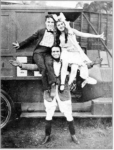Chaplin, Mary Pickford and her future Husband Douglas Fairbanks, April 8th, 1917.