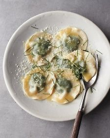 Wild Herb Ravioli - awesome way to make ravioli and quick!  Use any ingredients for the inside