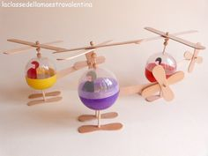 Recycled helicopters #kids #diy