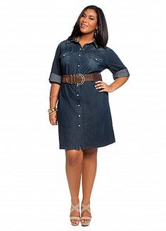 denim shirt dress; great for casual Friday | My fashion likes ...