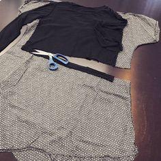 Aus zwei mach eins #upcycling #Kleiderschrank #zeit für #veränderung #mode #individuell #experimentell #einzelstück #stoffverarbeitung