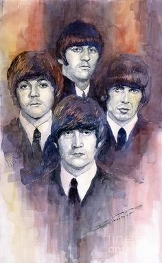 The Beatles 02 Painting  - The Beatles 02 Fine Art Print