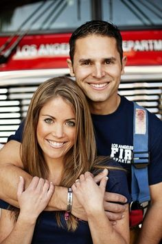Firefighter engagement session!    #engagement #weddings by essie