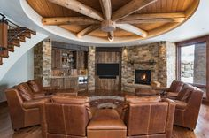 View our gallery of fine homes designed and built by Kogan Builders. Mountain Style, Mountain Homes, Post And Beam, Cabin Design, Living Room With Fireplace, Home Photo, Log Homes, Rustic Style, Lodges