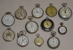 Lot Of 12 Vintage Silver Pocket Watches Silver Pocket Watch, Pocket Watch Antique, Antique Jewelry, Vintage Jewelry, Jewelry Auctions, Pocket Watches, Vintage Silver, Vintage Shops, Costume Jewelry