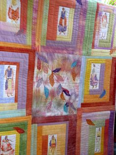 The quilts that were shown were made from old clothes, scraps and ...
