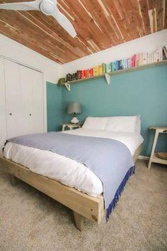 DOUBLE/FULL size Modern Platform Bed Printable PDF Woodworking image 2 | Platform Beds  #decor #homedecor #bedroom #furniture #platformbeds #mattressnut