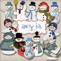 More Free Snowmen & other printables!