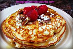 Copycat IHOP Pancakes with Butter Pecan Syrup #copycat #IHOP #Pancake