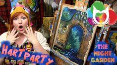 How to paint acrylic on Burlap Canvas from Hobby lobby The Night Garden ...