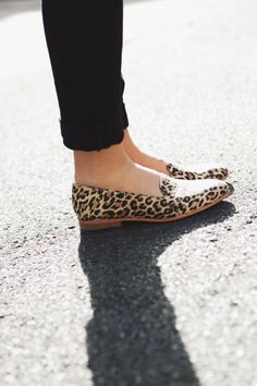 Leopard loafers. I love these. I think I'd look ridiculous in them but I still love the look of them.